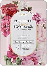 Духи, Парфюмерия, косметика Укрепляющая маска-носочки для ног - Petitfee&Koelf Rose Petal Satin Foot Mask
