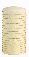 Духи, Парфюмерия, косметика Декоративная свеча, кремовая, 7x10 см - Artman Andalo