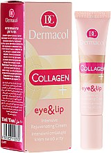Духи, Парфюмерия, косметика Интенсивный омолаживающий крем для век и губ - Dermacol Collagen+ Eye & Lip Cream