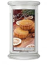 Духи, Парфюмерия, косметика Ароматическая свеча в банке - Kringle Candle Cardamom Gingerbread