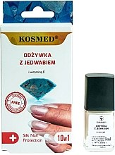 Духи, Парфюмерия, косметика Шелковый кондиционер для ногтей 10в1 - Kosmed Silk Nail Conditioner