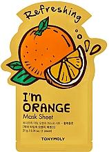Духи, Парфюмерия, косметика Тканевая маска для лица с экстрактом апельсина - Tony Moly I Am Orange Mask Sheet