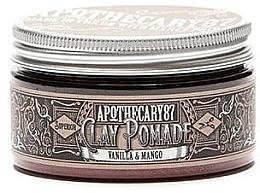 Духи, Парфюмерия, косметика Глина для укладки волос - Apothecary 87 Vanilla & Mango Clay Pomade