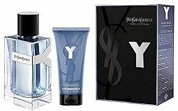 Духи, Парфюмерия, косметика Yves Saint Laurent Y Pour Homme - Набор (edt/100ml + sh/gel/50ml)
