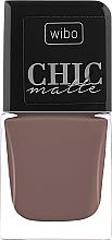 Духи, Парфюмерия, косметика Матовый лак для ногтей - Wibo Chic Matte
