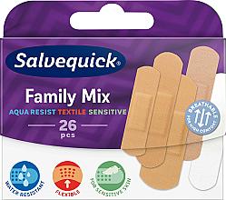 Духи, Парфюмерия, косметика Семейный набор пластырей - Salvequick Family Mix