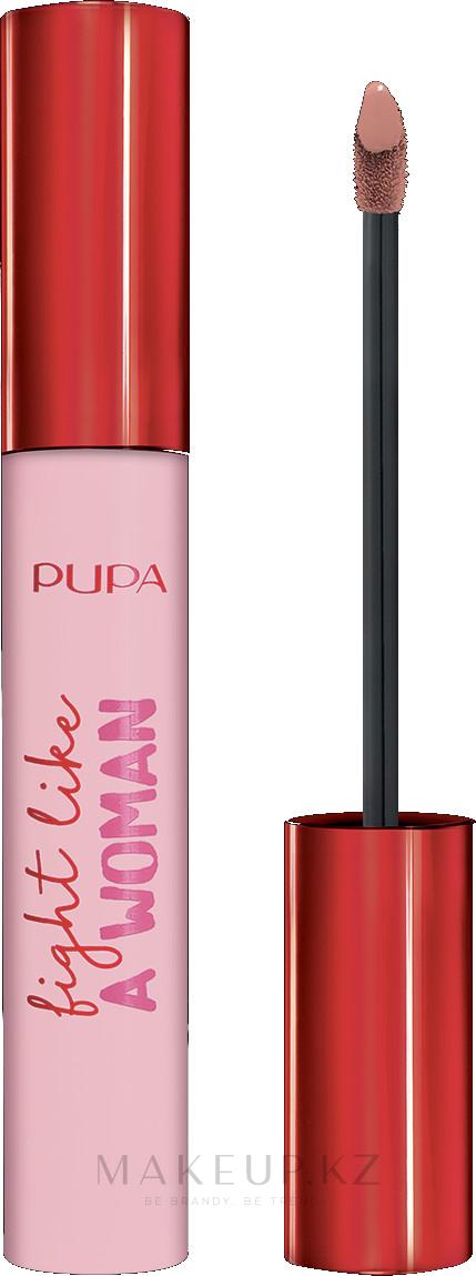Жидкая помада для губ - Pupa Fight A Like Woman Lipstick — фото 001 - Nude