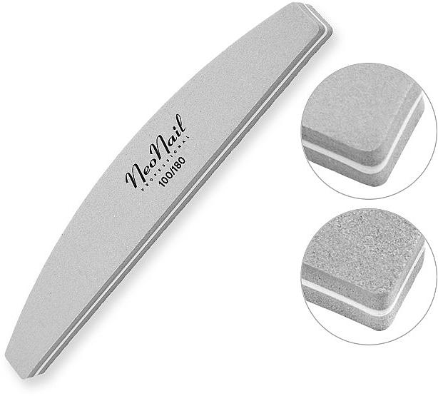 Пилочка полировочная, 100/180, серая - NeoNail Professional — фото N1