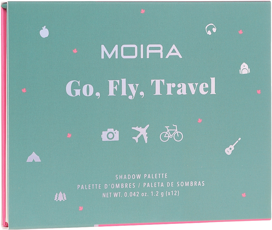 Палетка теней для век - Moira Happy Go, Fly, Travel Shadow Palette — фото N2