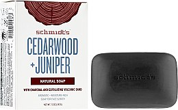 Духи, Парфюмерия, косметика Мыло - Schmidt's Naturals Bar Soap Cedarwood Juniper With Charcoal