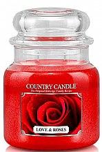 Духи, Парфюмерия, косметика Ароматическая свеча - Country Candle Love & Roses