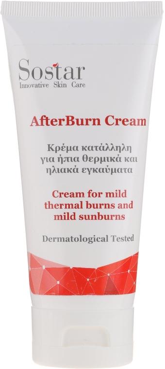 Крем от легких солнечных и термических ожогов - Sostar After Burn Cream — фото N1