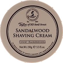 """Духи, Парфюмерия, косметика Крем для бритья """"Сандаловое дерево"""" - Taylor of Old Bond Street Sandalwood Shaving Cream Bowl"""