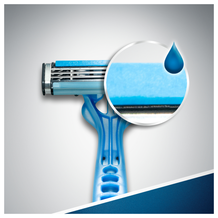 Набор одноразовых станков для бритья, 3шт - Gillette Blue 3 — фото N3
