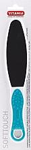 Духи, Парфюмерия, косметика Терка педикюрная двусторонняя с ручкой, бирюзовая - Titania