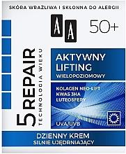 """Духи, Парфюмерия, косметика Дневной укрепляющий крем для лица """"Активный лифтинг"""" 50+ - AA Age Technology 5 Repair Day Cream 50+"""