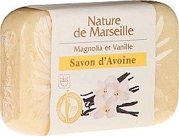 Духи, Парфюмерия, косметика Овсяное мыло с ароматом магнолии и ванили - Nature de Marseille Soap