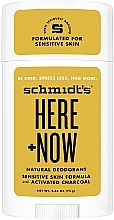 Духи, Парфюмерия, косметика Натуральный антиперспирант - Schmidt's Here +Now Natural Deodorant
