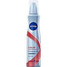 "Духи, Парфюмерия, косметика Мусс для волос ""Защита цвета и уход"" - Nivea Color Care & Protect Styling Mousse Extra Strong"