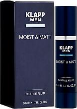 Духи, Парфюмерия, косметика Флюид для лица, увлажняющий и матирующий - Klapp Men Moist & Matt Oilfree Fluid