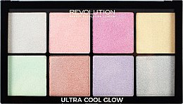 Духи, Парфюмерия, косметика Палетка хайлайтеров для лица - Makeup Revolution Ultra Cool Glow
