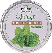 Духи, Парфюмерия, косметика Очищающий скраб для лица с мятой и сахарным желе - Eco U Cleansing Mint Sugar Jelly Face Scrub