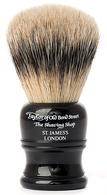 Помазок для бритья, SH2B чёрный - Taylor of Old Bond Street Shaving Brush Super Badger Size M — фото N1