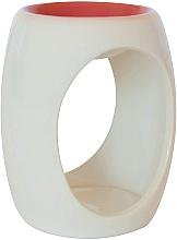 Духи, Парфюмерия, косметика Керамическая аромалампа, белая с оранжевым верхом - Airpure
