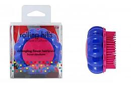 """Духи, Парфюмерия, косметика Компактная расческа для волос """"Ромашка"""", синий/розовый - Rolling Hills Brosse Desenredar Flower"""