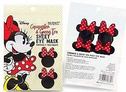 "Духи, Парфюмерия, косметика Тканевая маска для кожи вокруг глаз ""Огурец и зеленый чай"" - Mad Beauty Disney Minnie Mouse Sheet Eye Mask"