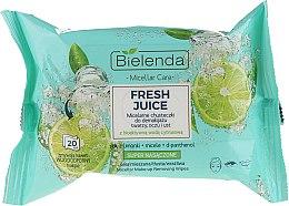 Духи, Парфюмерия, косметика Мицеллярные салфетки для снятия макияжа с биоактивной цитрусовой водой - Bielenda Fresh Juice Micelar Make-up Removing Wipes