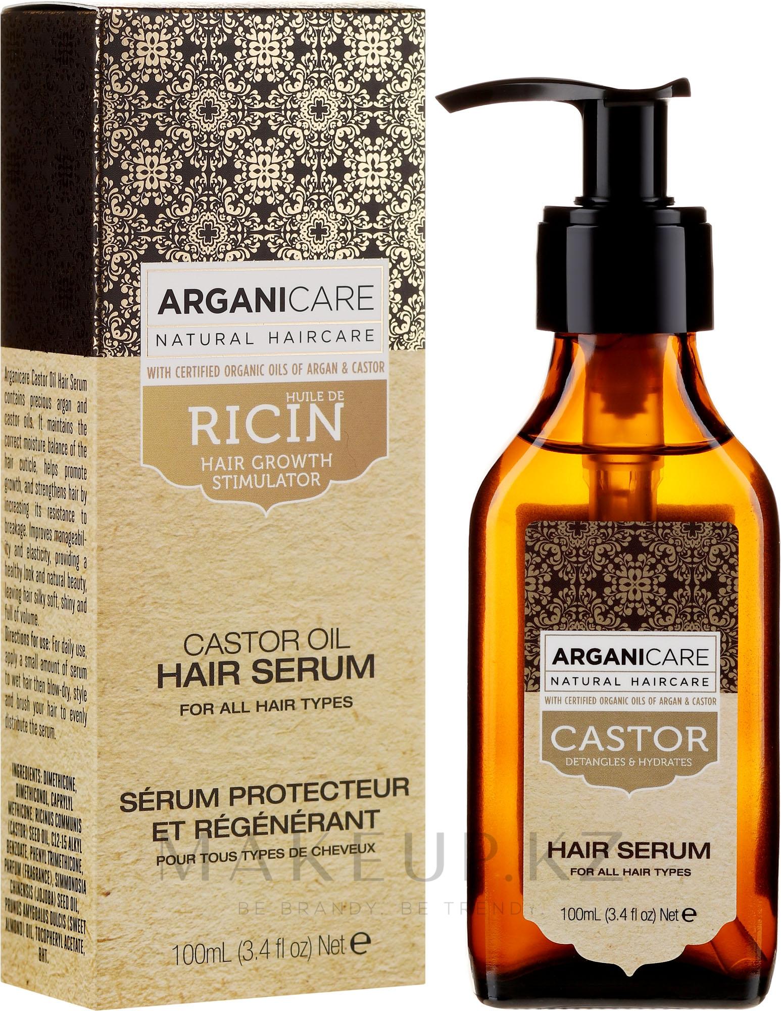 Сыворотка для роста волос - Arganicare Castor Oil Hair Serum — фото 150 ml
