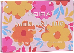 Духи, Парфюмерия, косметика Палетка бронзеров - Moira Sunkissed Chic Bronzed Goddess Duo Palette