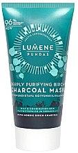 Духи, Парфюмерия, косметика Маска с березовым углем для глубоко очищения - Lumene Puhdas Deeply Purifying Birch Charcoal Mask