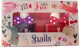 Духи, Парфюмерия, косметика Набор детских лаков для ногей 2х10,5ml - Snails Mini Bebe Be Free