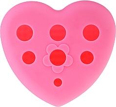 Духи, Парфюмерия, косметика Силиконовая щетка для мытья и сушки кистей для макияжа с подставкой, розовая - Lash Brow