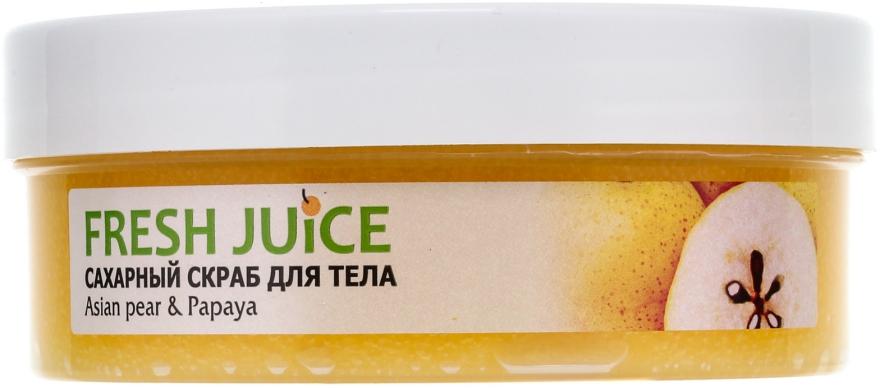"Сахарный скраб для тела ""Азиатская груша и папайя"" - Fresh Juice Asian Pear & Papaya — фото N2"