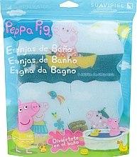 """Духи, Парфюмерия, косметика Набор мочалок """"Свинка Пеппа"""" 3шт, морские путешествия - Suavipiel Peppa Pig Bath Sponge"""