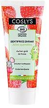Духи, Парфюмерия, косметика Детская зубная паста со вкусом клубники - Coslys Junior Toothpaste