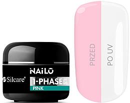 Духи, Парфюмерия, косметика Гель для ногтей - Silcare Nailo 1-Phase Gel UV Pink
