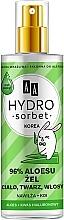 Духи, Парфюмерия, косметика Универсальный гель 96% - AA Hydro Sorbet Gel (спрей)