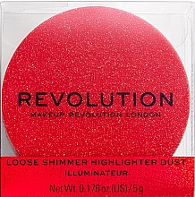 Духи, Парфюмерия, косметика Хайлайтер для лица - Makeup Revolution Shimmer Dust