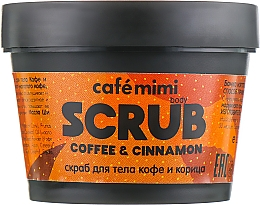 "Духи, Парфюмерия, косметика Скраб для тела ""Кофе и Корица"" - Cafe Mimi Body Scrub Coffee & Cinnamon"