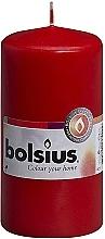 Духи, Парфюмерия, косметика Свеча цилиндрическая, красная, 120х60 мм - Bolsius Candle