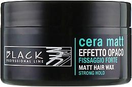 Духи, Парфюмерия, косметика Воск с матовым эффектом - Black Professional Line Cera Matt Effetto Opaco