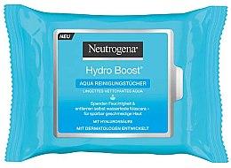 Духи, Парфюмерия, косметика Очищающие влажные салфетки - Neutrogena Hydro Boost