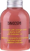 Духи, Парфюмерия, косметика Сливочный крем для ванны с экстрактом шоколада и апельсина - BingoSpa