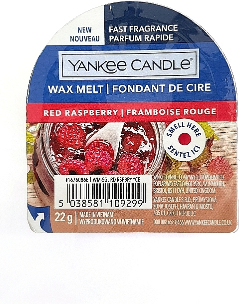 Ароматический воск - Yankee Candle Red Raspberry Wax Melt — фото N1