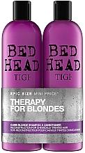 Духи, Парфюмерия, косметика Набор - Tigi Bed Head Dumb Blonde (sh/750ml + cond/750ml)