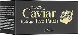 Гидрогелевые патчи под глаза с черной икрой - Esfolio Black Caviar Hydrogel Eye Patch — фото N3